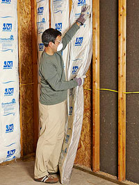 Putting insulation in walls