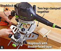 Router /stopblock/two legs?