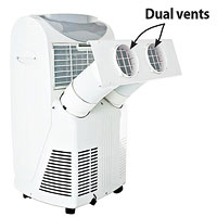 White cooling system with 2 vents