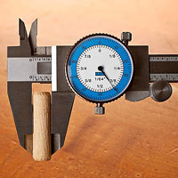 Caliper with blue numbers