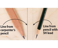 2 pencils on boards