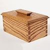 Wooden box with dovetail side