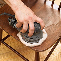 Buffing a chair
