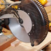 Mitersawing small part