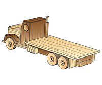 Truck with flat bed