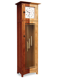 Tall clock with 2 different colors