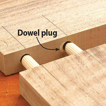Repairing Dowel Jig Mistakes Plug The Hole And Redrill