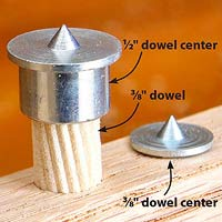 Dowel with metal pointy tip on it