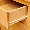 Drawer with white slide at bottom