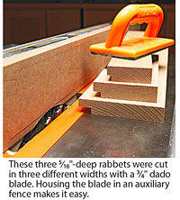 3 rabbited board on tablesaw