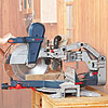 Hands on a mitersaw with faded background