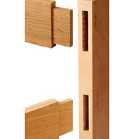 Two board to be inserted into tenon