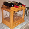 Compact countertop wine rack