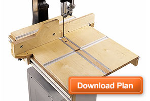 Band Saw Table Plans