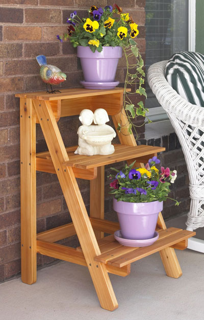 Diy plant stand plant stands and wooden stairs on pinterest How to build a tiered plant stand