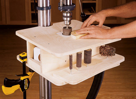 drum sanding table. Black Bedroom Furniture Sets. Home Design Ideas