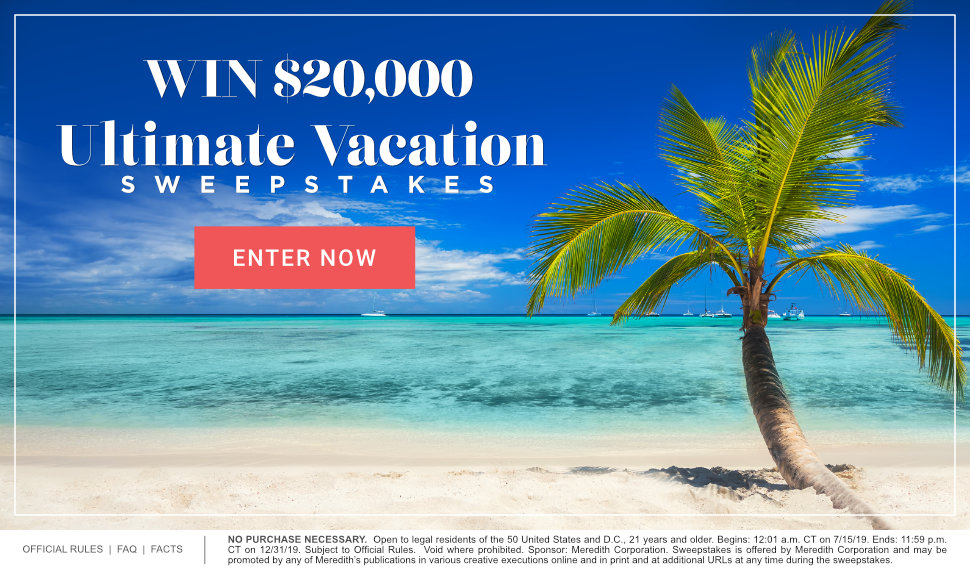Ultimate Vacation $20,000 Sweepstakes