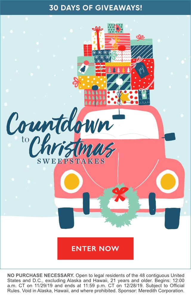 Countdown to Christmas Sweepstakes