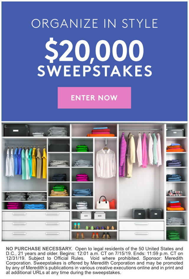 Organize in Style $20,000 Sweepstakes