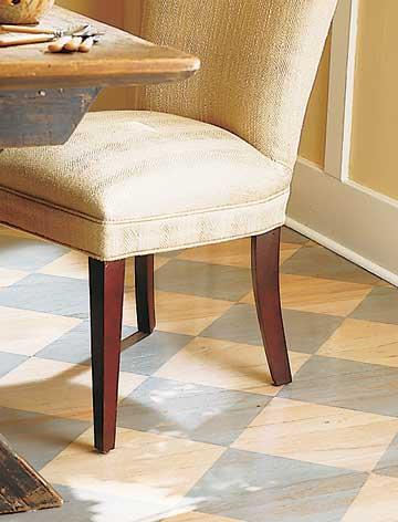 الطلاء احرصي على فرش الأرضية بأنواع مختلفة ( ولكن متناسقة