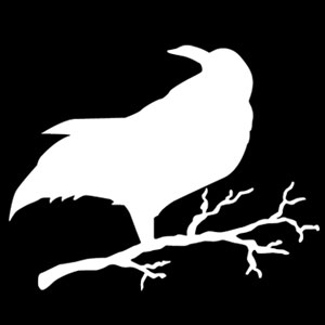 Creepy Crow Stencil