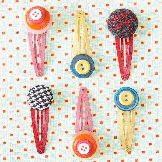 button hair clips 1