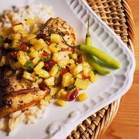 Chicken with Fruit Salsa