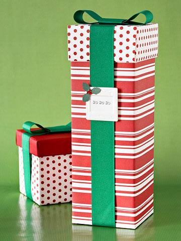 Make Your Own Sensational Stripes Gift Wrap