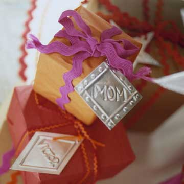 Embossed Metal Gift Tags & Ornaments