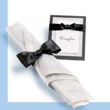 Diamond-and-Bow-Tie Place Cards