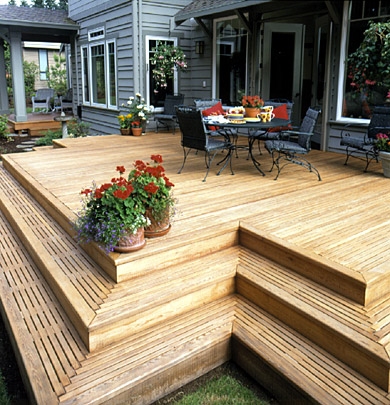 Budgeting for a new deck for Steps to building a new home