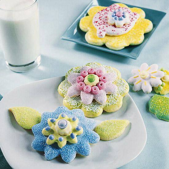 Springtime Flower Sugar Cookies