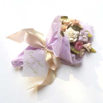 Porcelain Nosegay Wedding Favors