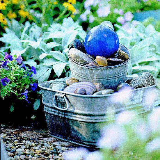 Gazing Ball Bubbler Fountain