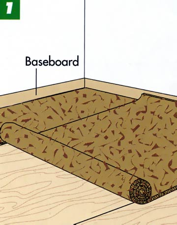 Laying Integral-Pad Carpeting