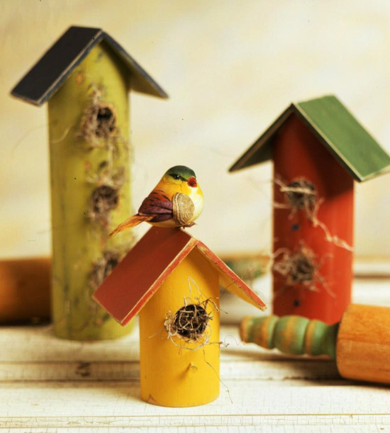 Rolling-Pin Birdhouses