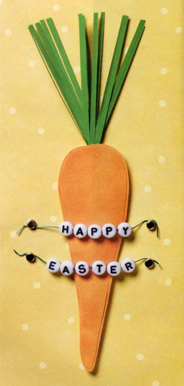 Happy Easter Carrot Card