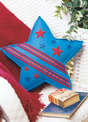 Striped Star Pillow