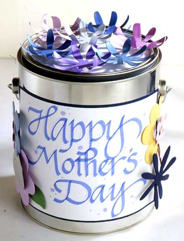 Mother's Day Paint Can Gift Wrap