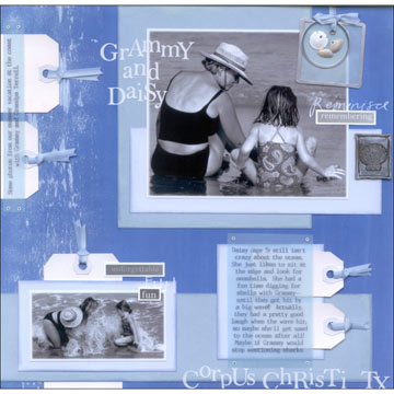 Gram and Grandchild Scrapbook Page