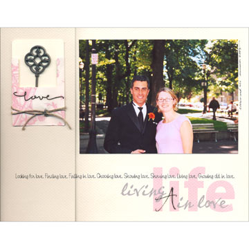 Living a Life in Love Scrapbook Page