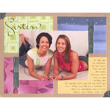 Sisters Scrapbook Page