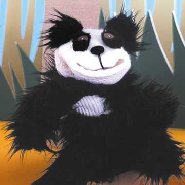 Furry Panda Sock Puppet
