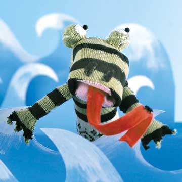 Famished Frog Sock Puppet