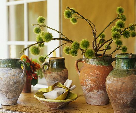 Fall Olive Jar Arrangement