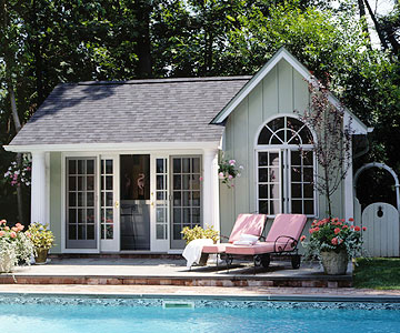 Pavilion and pool house ideas for Pool house plans with living quarters