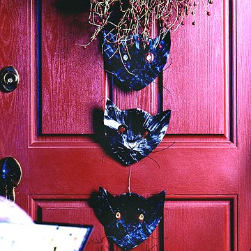 Black Cat Door Hanger