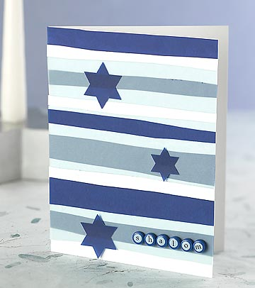 Stripes and Stars Hanukkah Card