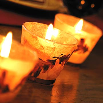 Fall Leaf Votive Candles