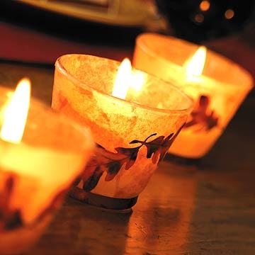 Fall Leaf Votive Candles